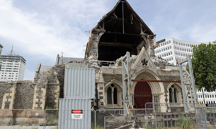 The couple also visited Christchurch Cathedral, which was heavily damaged in the 2011 earthquake, which killed 185 people across the city. 