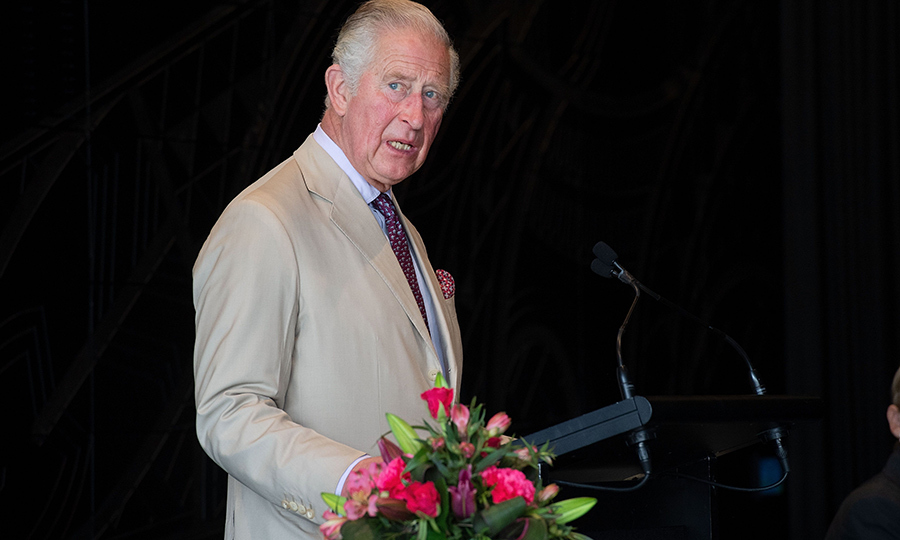 Charles also gave a speech at a reception for Christchurch Cathedral at the city library.