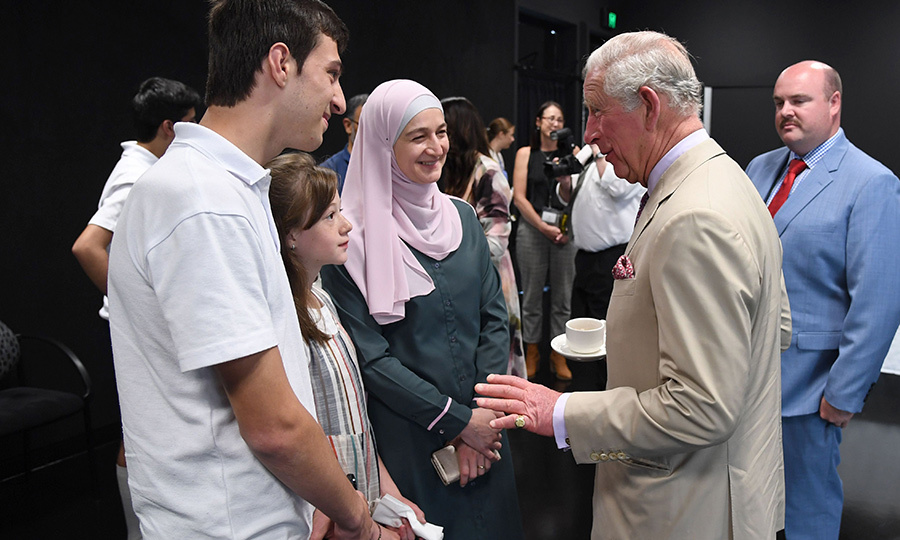 Charles was also keen to speak to the young people at the event and give them his support. 