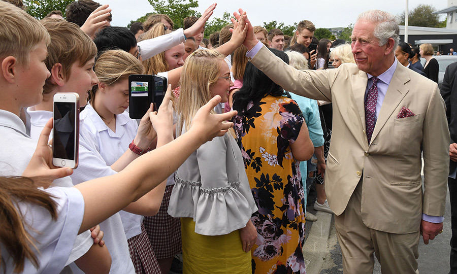 Imagine high fiving a future King! 