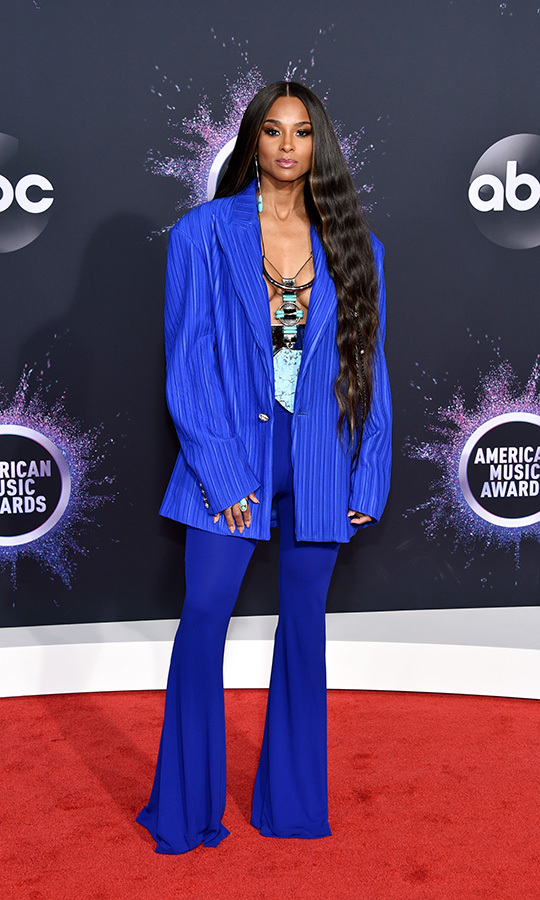 "Power suit! And how! <strong><a href=""/tags/0/ciara"">Ciara</a></strong> shocked with this incredible electric blue suit by <strong>Balmain</strong>, which she paired with some awesome jewels.