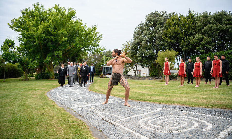 Charles then headed to Kaikoura for a traditional Māori welcoming ceremony.