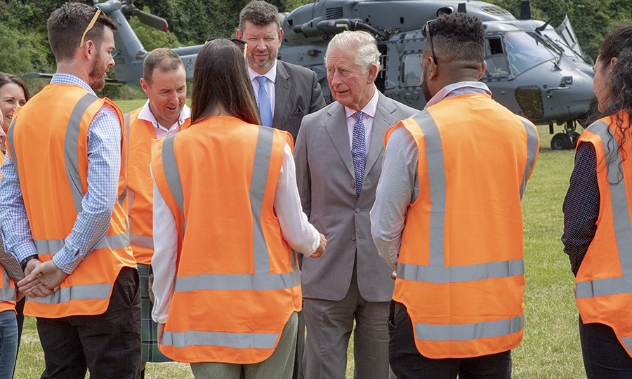 The prince also met with first responders to the 2015 earthquake that devastated the Christchurch region.