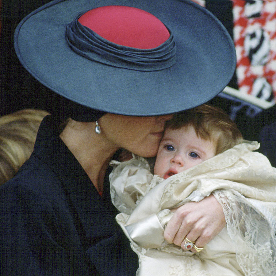 Two days before Christmas Day 1990, nine-month-old <strong><a href=/tags/0/princess-eugenie>Princess Eugenie</a></strong> – surrounded by her proud parents, uncles, aunts and cousins –  became the first royal baby to have a public christening at Sandringham Church.