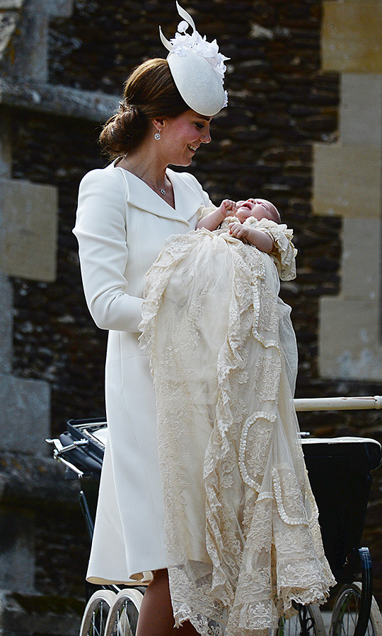 "In 2015, two-month-old <strong><a href=""/tags/0/princess-charlotte"">Princess Charlotte</a></strong> (whose middle names are Elizabeth and Diana after her great-grandmother and late grandmother) was christened at the same church as were her namesakes.