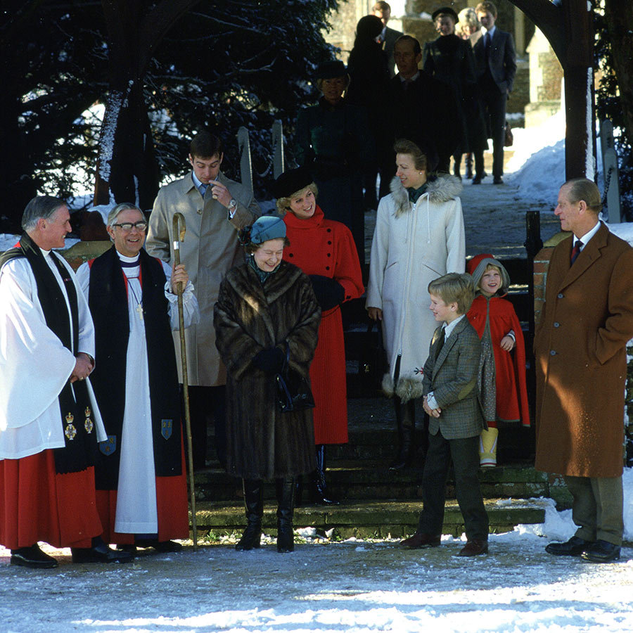 In 1985, the <strong><a href=/tags/0/british-royals>Royal Family</a></strong> had the joy of a rare white Christmas at the church.