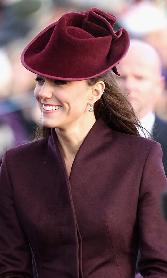 "In 2011, <strong><a href=""/tags/0/kate-middleton"">Duchess Kate</a></strong> marked her first Christmas a royal in a jaunty berry-hued hat by <strong><a href=/tags/0/jane-corbett>Jane Corbett</a></strong>.