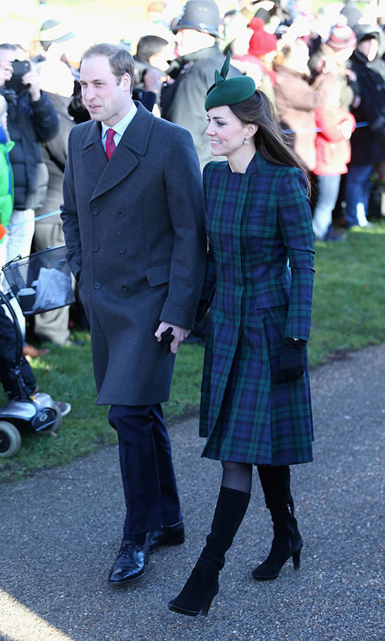 A tartan <strong><a href=/tags/0/alexander-mcqueen>Alexander McQueen</a></strong> coat checked the boxes for her first festive season as a mom.