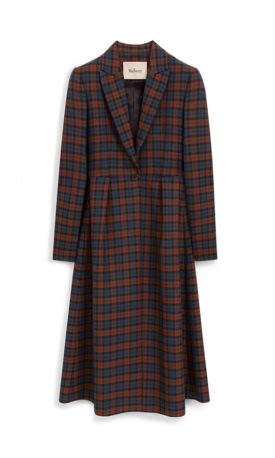 This brown woven wool checkered Allison Coat from <strong><a href=/tags/0/mulberry>Mulberry</a></strong> looks just like the Miu Miu one Kate wore in 2017. It's also on sale right now, discounted 50 per cent!