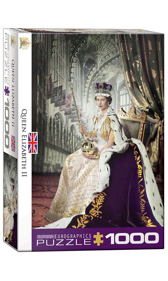 Her Majesty loves puzzles, and this one is perfect for the puzzle-aholic in your life! It features the Queen's official portrait taken for her coronation in 1953, and at 1,000 pieces, it will keep any problem-solver busy for a while.