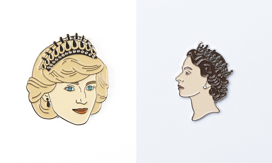 These enamel pins are perfect for the royals-loving hipster in your life. There are two available: one of <strong><a href=/tags/0/princess-diana>Princess Diana</a></strong> and another of the Queen.