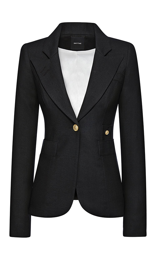 <a href=/tags/0/kate-middleton><strong>Duchess Kate</a></strong> loves <strong><a href=/tags/0/smythe>Smythe</a></strong> so much that she owns three of their blazers in different colours. So it's only natural that the label has its own Duchess Blazer, which comes in multiple colours, letting you look just like the Duchess of Cambridge with some incredible style that's as perfect for work as it is a holiday cocktail party.