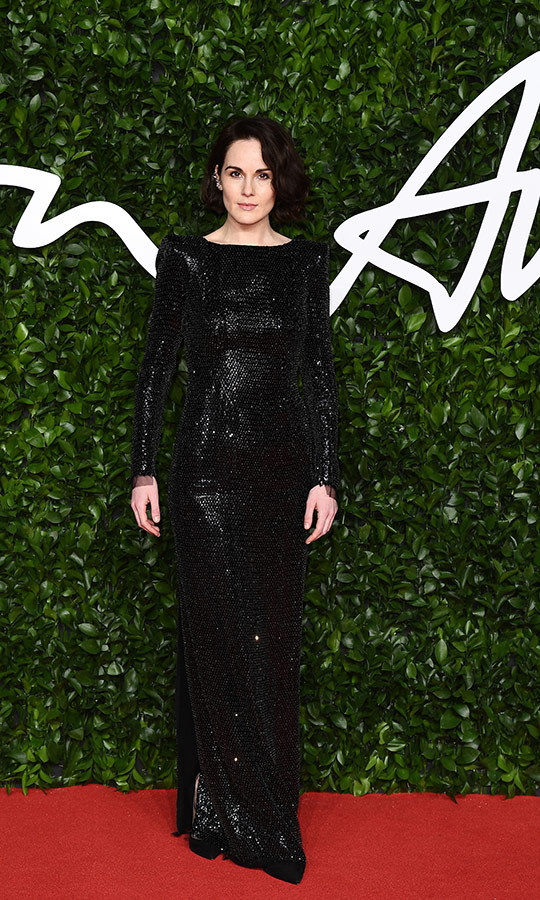 <a href=/tags/0/downton-abbey><strong><i>Downton Abbey</i></a></strong>'s <strong><a href=/tags/0/michelle-dockery>Michelle Dockery</a></strong> looked equally stunningin a full-length black sequinned gown.