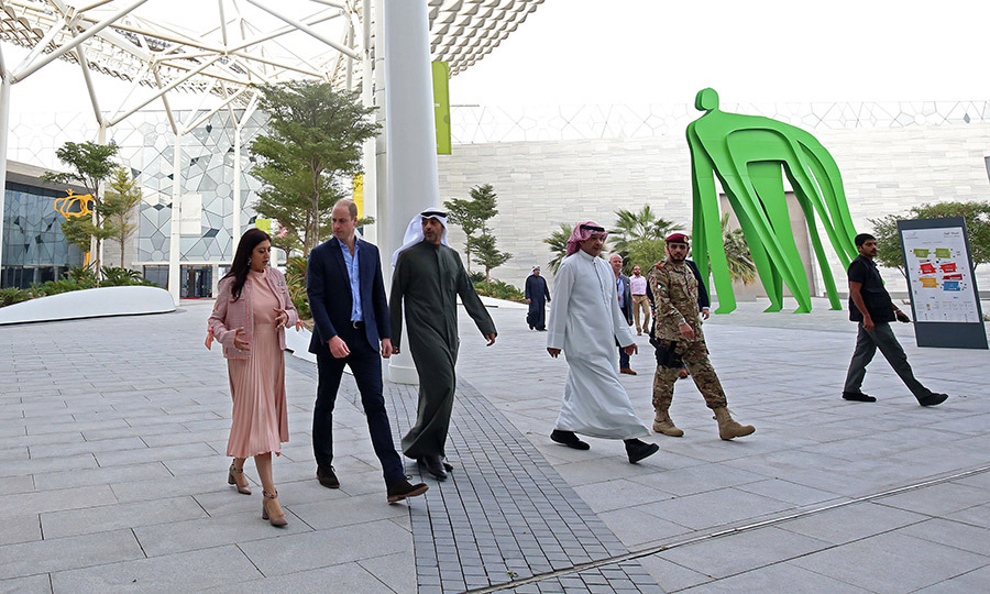 The duke later attended a special meeting with Sheikh <strong>Mohammed al-Abdullah al-Sabah</strong>, deputy minister for royal affairs (centre), and <strong>Sahar al-Aqab</strong>, the director of the cultural centres department at the Kuwaiti royal palace (left). He visited the Abdullah al-Salem Cultural Centre in Kuwait City, where he learned about the country's heritage and history. 