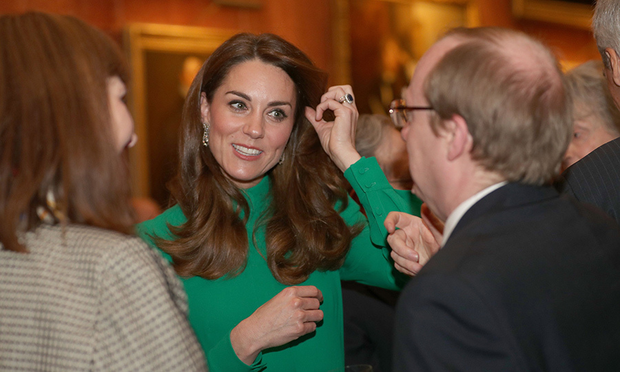 Kate later dropped in and looked incredible, wearing a bespoke <strong><A href=/tags/0/emilia-wickstead>Emilia Wickstead</a></strong> dress.