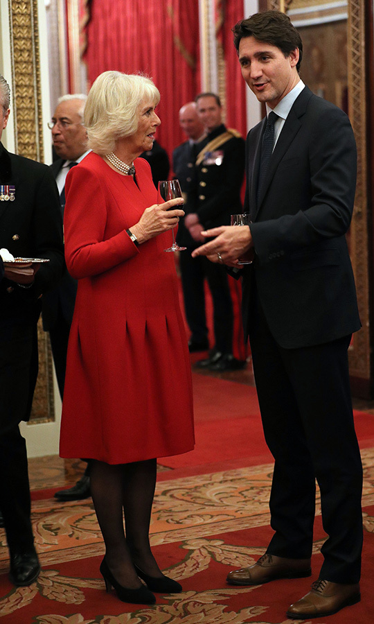 Camilla also spent some time chatting with Justin.