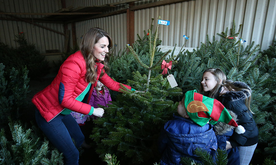 <a href=/tags/0/kate-middleton><strong>Duchess Kate</a></strong> stepped in for Santa Claus on Dec. 4 when she surprised children at the Peterley Manor Farm in Great Missenden, England and helped them pick out Christmas trees! 