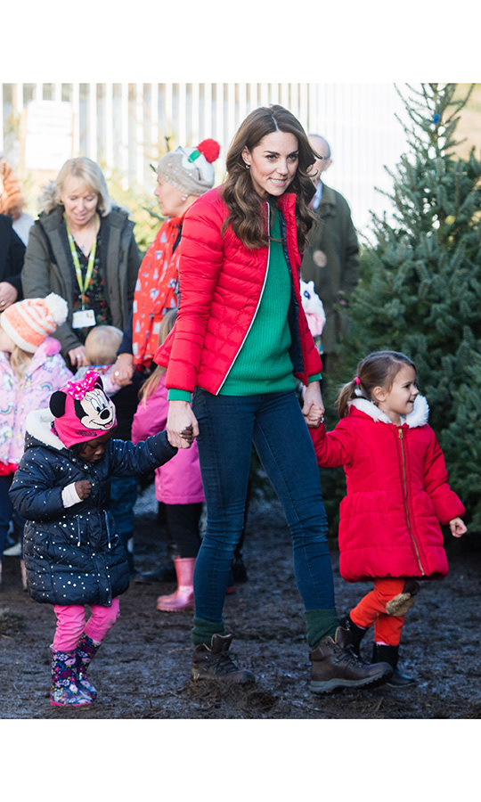 Kate didn't drop their hands as they headed toward the trees.