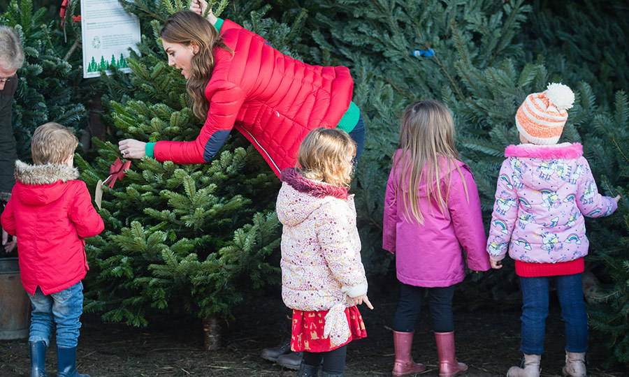 The duchess enthusiastically went through each tree, asking children what they thought and if it was the right one for them.