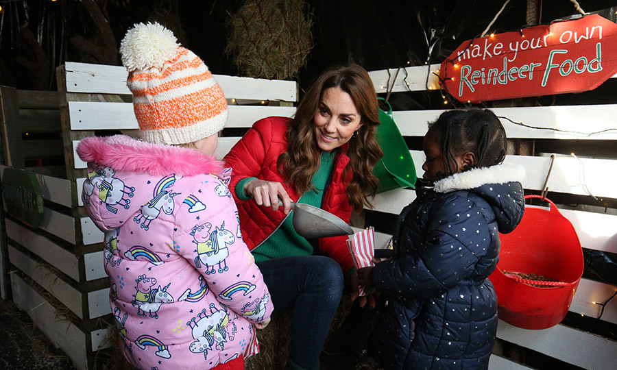 Kate also spent some time passing on some reindeer food, which kids are being encouraged to leave Santa's reindeer on Christmas Eve!