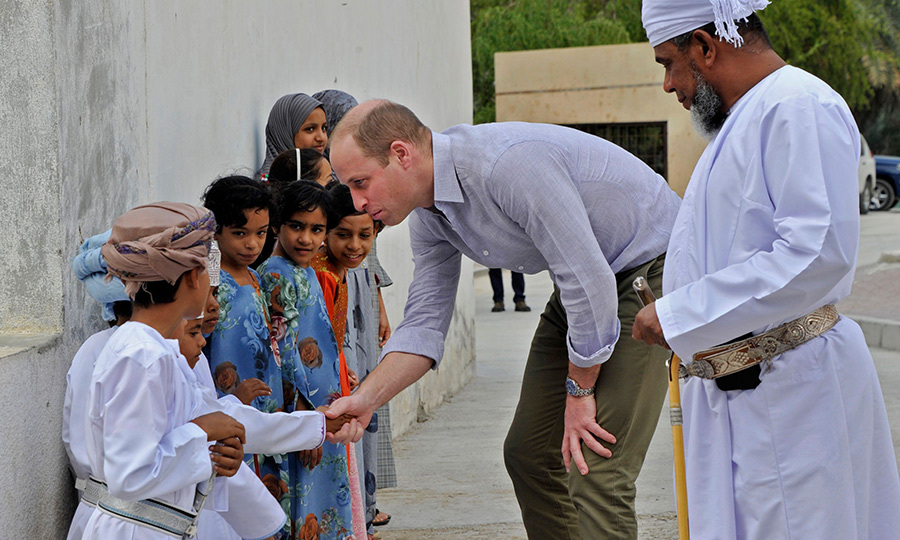 When he arrived at Wadi al-Arbeen, William was greeted by children, who were very happy to see him, and vice versa! 