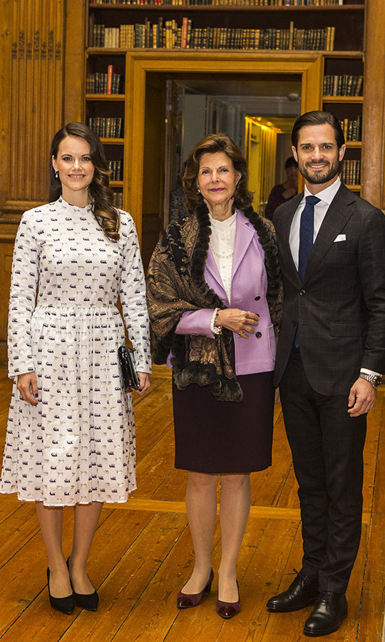 "Sofia doesn't shy away from prints. At a symposium on ""Dyslexialand"" at the Swedish Royal Palace on Nov. 21, 2017, she wore a cheerful midi dress. <strong><a href=""https://ca.hellomagazine.com/tags/0/queen-silvia"">Queen Silvia of Sweden</a></strong> and Prince Carl Phillip were with her at the royal engagement.<p>Photo: © MICHAEL CAMPANELLA/WireImage"