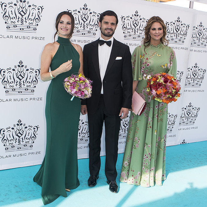 "Gorgeous in green! Princess Sofia joined Prince Carl Phillip of Sweden and <strong><a href=""https://ca.hellomagazine.com/tags/0/princess-madeleine/"" target=""_blank"">Princess Madeleine of Sweden</a></strong> at the Polar Music Prize award ceremony on June 14, 2018. Sofia stunned in a halterneck gown and her hair swept into a soft updo.