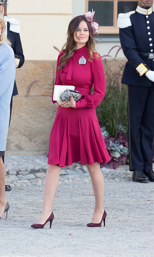 "So many shades of pink! The Duchess of Värmland demonstrated her love of colour at the christening of <strong><a href=""https://ca.hellomagazine.com/tags/0/prince-nicolas"" target=""_blank"">Prince Nicolas of Sweden</a></strong> at Drottningholm Palace