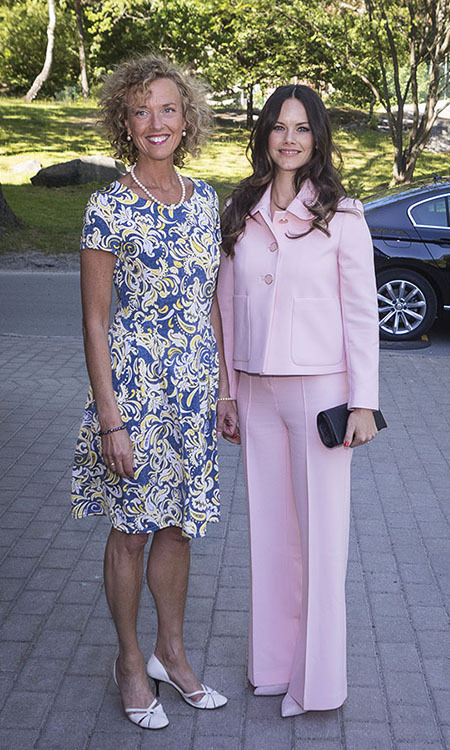 Princess Sofia was pretty in a pale pink suit when she was on a royal visit to The Sophia Party and presentation of Medals of Merit to Sophia Sisters on May 28, 2018 in Stockholm, Sweden.<p>Photo: © MICHAEL CAMPANELLA/Getty Images
