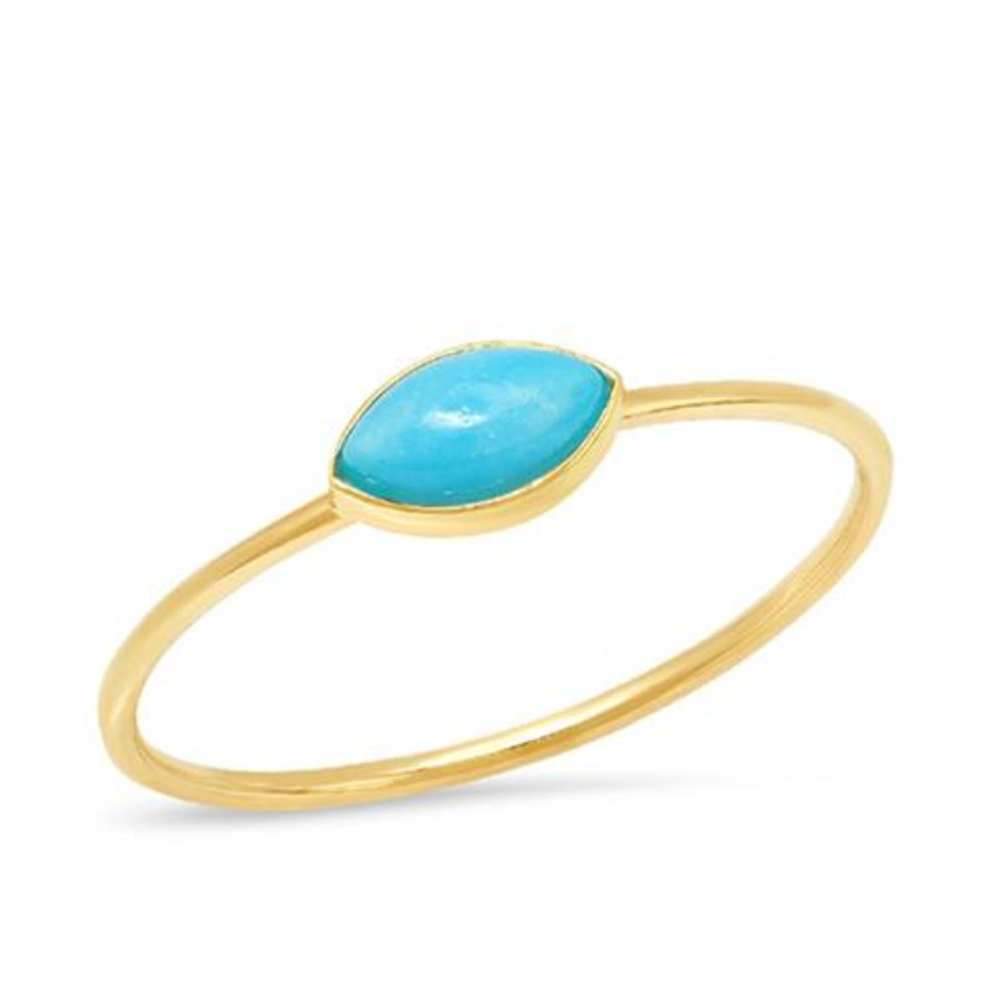 "The former <em>Suits</em> actress is a fan of delicate jewelry. This <a href=""https://ca.hellomagazine.com/tags/0/jennifer-meyer"" target=""_blank""><strong>Jennifer Meyer</strong></a> Turquoise Marquise Ring is handcrafted in Los Angeles and features a polished 18-karat yellow gold band with brilliant turquoise stone. Meghan wore the stunning piece during <a href=""https://ca.hellomagazine.com/royalty/02019092353023/prince-harry-duchess-meghan-african-royal-tour-photos"" target=""_blank"">her and Prince Harry's tour of Africa</a>.</p><p><a href=""https://jennifermeyer.com/products/turquoise-marquise-ring"" target=""_blank"">Jennifer Meyer</a>, $250</p><p>Screenshot via jennifermeyer.com"