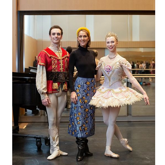 While she was in Toronto, Céline also stopped in to the National Ballet of Canada, where she previewed its production of <i>The Nutcracker</i>!