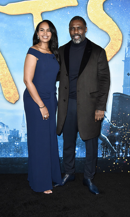 <a href=/tags/0/idris-elba><strong>Idris Elba</a></strong> chose a black-on-blue ensemble and his gorgeous wife <strong><a href=/tags/0/sabrina-dhowre>Sabrina Dhowre</strong></a> stunned in a blue gown.