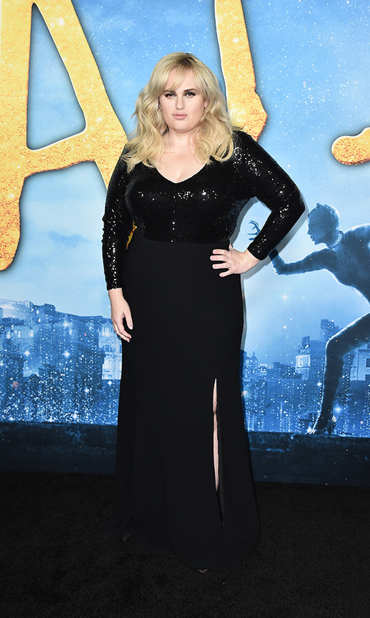 <a href=/tags/0/rebel-wilson><strong>Rebel Wilson</a></strong> looked beautiful in a black sequinned number.