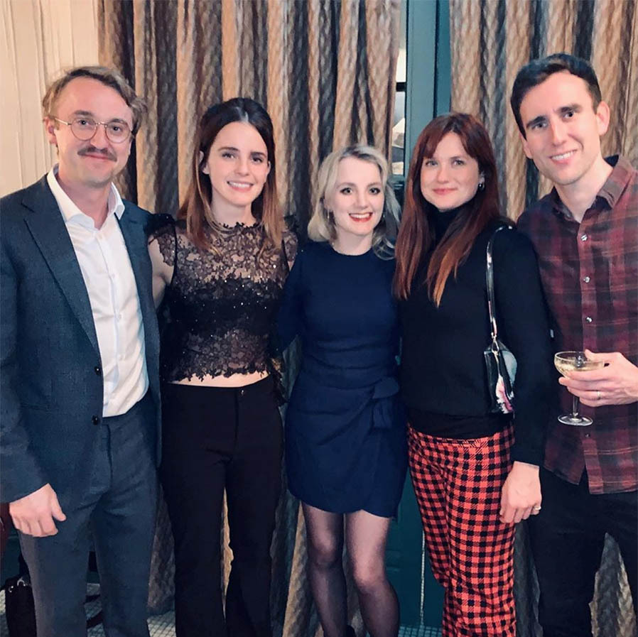 "<h2>Tom Felton, Emma Watson, Evanna Lynch, Bonnie Wright, Matthew Lewis</h2><p></p>A large group of the <a href=""https://ca.hellomagazine.com/tags/0/harry-potter""><em><strong>Harry Potter</strong></em></a> cast got together to spread seasons greetings, much to the delight of fans!<p></p>Photo: © Instagram/t22felton"