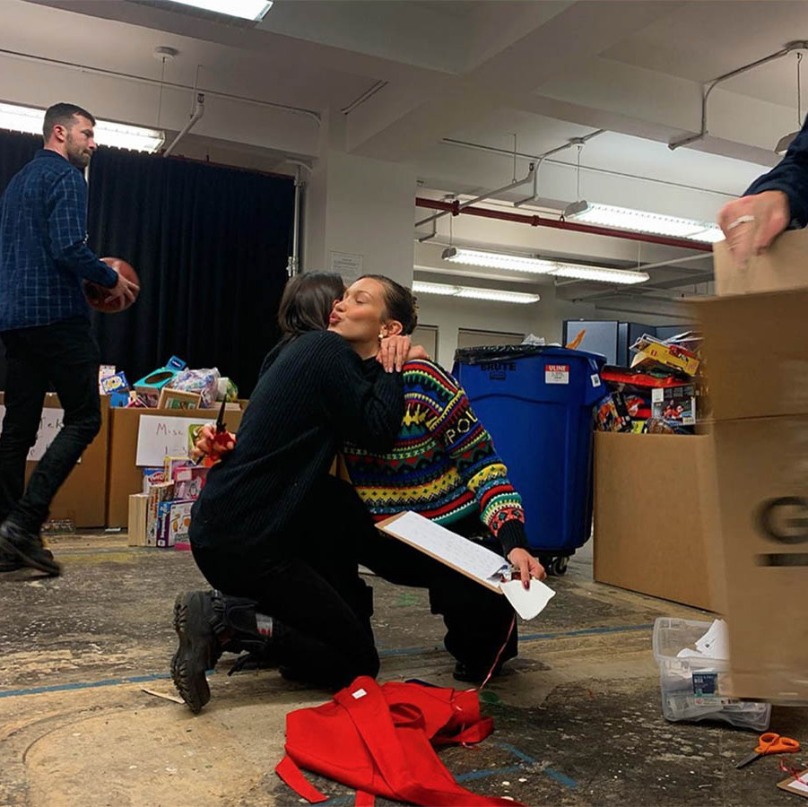 <h2>Bella Hadid</h2><p></p>The supermodel participated in The Coalition for the Homeless's annual toy drive in New York and encouraged others to lend a helping hand this holiday season. <p></p>Photo: © Instagram/bellahadid