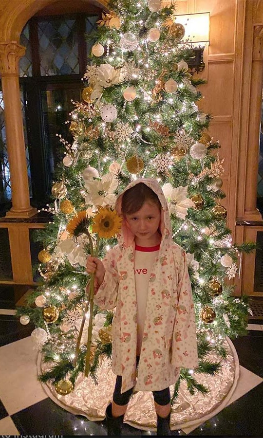 "<h2>Hilaria Baldwin</h2><p>We don't often see Christmas trees and sunflowers together so it was special to see them in one photo. <a href=""https://ca.hellomagazine.com/tags/0/hilaria-baldwin""><strong>Hilaria Baldwin</strong></a>'s daughter <strong>Carmen</strong> specifically selected the flowers ""because they are happy.""<p>Photo: © Instagram/hilariabaldwin"