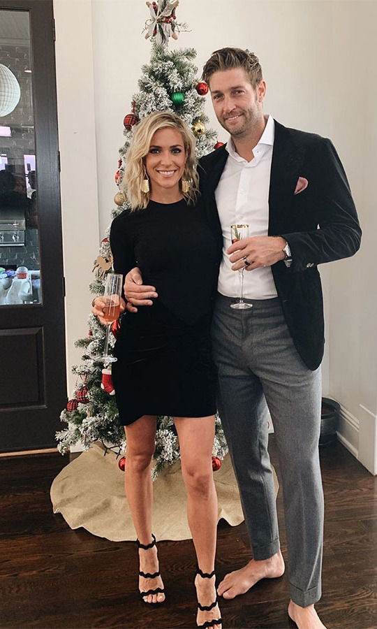 <h2>Kristin Cavallari</h2><p>The former <em>Laguna Beach</em> star posed with husband <strong>Jay Cutler</strong> in front of a trimmed Christmas tree. <p></p>Photo: © Instagram/kristincavallari