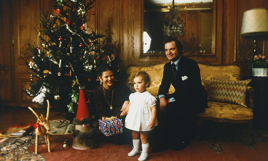 <p>It's a double celebration on Christmas Eve as the day before is the birthday of Victoria's mother, <a href=/tags/0/queen-silvia>Queen Silvia</a></strong> (pictured, in 1978 with husband <strong>King Carl XVI Gustaf</strong> and a young Victoria). 