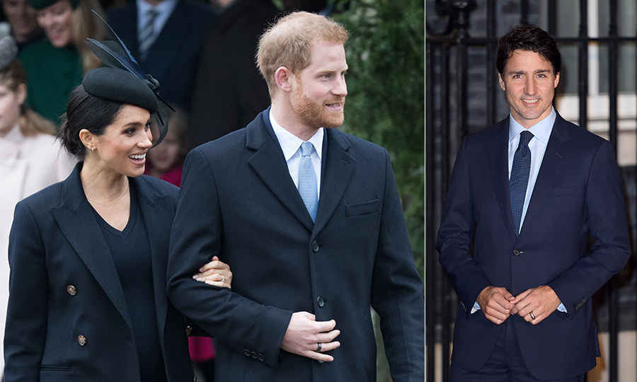 Justin Trudeau welcomes Prince Harry, Meghan Markle and