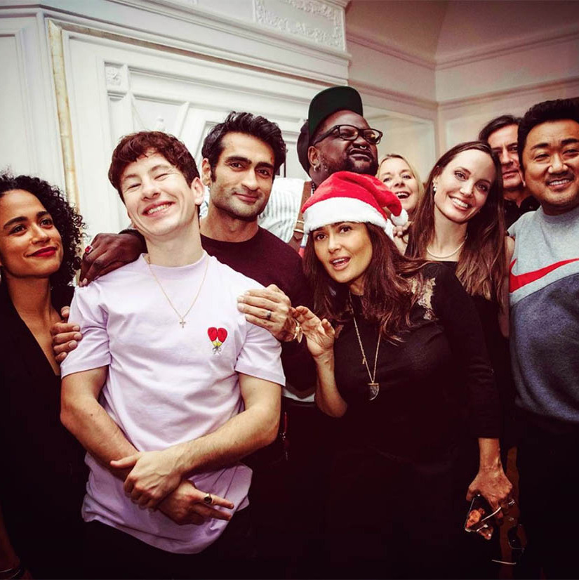 "<h2>Salma Hayek</h2><p></p><strong><a href=""https://ca.hellomagazine.com/tags/0/salma-hayek"">Salma Hayek</strong></a> shared an A-list holiday greeting from <em>The Eternals</em> cast. How many famous faces can you see?<p>Photo: © Instagram/salmahayek"