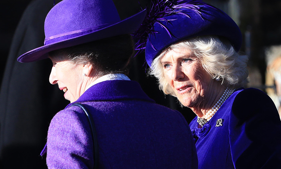 <a href=/tags/0/camilla-parker-bowles><strong>Duchess Camilla</a></strong> was dressed very similarly to Anne.