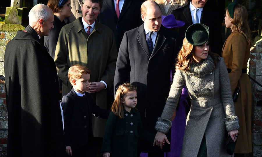 Charlotte also looked smart in a dark green coat.