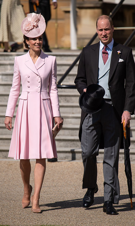 "<h2>Buckingham Palace, May 21</h2></p><p>Talk about pretty in pink! The Duchess of Cambridge wore a rose pink coat by one of her favourite designers, Alexander McQueen, to attend the <a href=""https://ca.hellomagazine.com/fashion/02019052151535/kate-middleton-alexander-mcqueen-queen-canada-brooch-buckingham-palace-garden-party"" target=""_blank""><strong>Royal Garden Party at Buckingham Palace</strong></a> on May 21. The floral detail on her <a href=""https://ca.hellomagazine.com/tags/0/juliette-botterill/"" target=""_blank""><strong>Juliette Botterill</strong></a> fascinator captured the theme perfectly!</p><p>Photo: © Dominic Lipinski - WPA Pool/Getty Images"