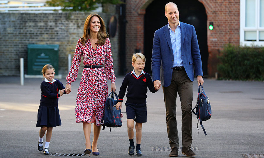 "<h2>London, Sept. 5</h2></p><p>Proud mom Kate looked elegant in a printed <a href=""https://ca.hellomagazine.com/tags/0/michael-kors"" target=""_blank""><strong>Michael Kors</strong></a> dress as she and Prince William arrived at Thomas's Battersea in London on Sept. 5 for <a href=""https://ca.hellomagazine.com/tags/0/princess-charlotte"" target=""_blank""><strong>Princess Charlotte</strong></a>'s <a href=""https://ca.hellomagazine.com/royalty/02019090552748/kate-middleton-style-princess-charlotte-first-day-of-school"" target=""_blank""><strong>first day of school</strong>,</a> with her brother <a href=""https://ca.hellomagazine.com/tags/0/prince-george"" target=""_blank""><strong>Prince George</strong></a>.</p><p>Photo: © Aaron Chown - WPA Pool/Getty Images"