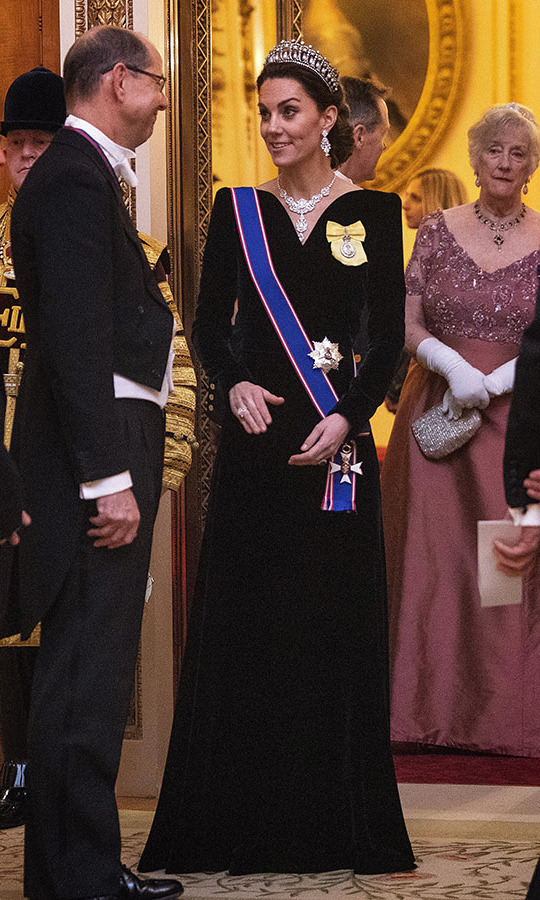 "<h2>Buckingham Palace, Dec. 11</h2></p><p>Royal fans cannot get enough of a tiara appearance, especially because they are rare. Kate wore her favourite crown, the <strong><a href=""https://ca.hellomagazine.com/royalty/02019121154011/kate-middleton-cambridge-lovers-knot-tiara-queen-diplomatic-corps-reception-photos"" target=""_blank"">Cambridge Lover's Knot tiara</a></strong>, with a <a href=""https://ca.hellomagazine.com/royalty/02019121254023/kate-middleton-new-diamond-ring-the-queen-necklace-diplomatic-corps-reception"" target=""_blank""><strong>new diamond ring</strong></a>, <strong><a href=""https://ca.hellomagazine.com/tags/0/queen-elizabeth-ii"">the Queen</a></strong>'s  Nizam of Hyderabad necklace and a black Alexander McQueen gown to the Diplomatic Corps reception at <a href=""https://ca.hellomagazine.com/tags/0/buckingham-palace""><strong>Buckingham Palace</strong></a> on Dec. 11 in London.</p><p>Photo: © Victoria Jones - WPA Pool/Getty Images"