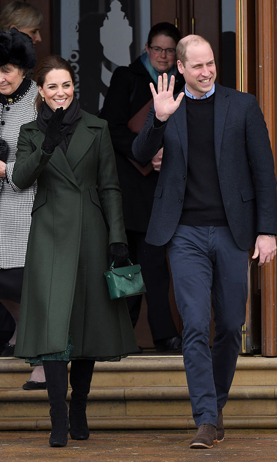 "<h2>Blackpool, March 6</h2></p><p>Kate and <a href=""https://ca.hellomagazine.com/tags/0/prince-william"" target=""_blank""><strong>Prince William</strong></a> visited <a href=""https://ca.hellomagazine.com/royalty/02019030650201/kate-middleton-prince-william-blackpool-photos/"" target=""_blank""><strong>Blackpool Tower</strong></a> on March 6. Their similar magnetic smiles and waves were sweet, and so was Kate's deep green <a href=""https://ca.hellomagazine.com/tags/0/sportmax"" target=""_blank""><strong>Sportmax</strong></a> coat and matching <a href=""https://ca.hellomagazine.com/tags/0/manu-atelier"" target=""_blank""><strong>Manu Atelier</strong></a> bag. She always knows how to bundle up in style!