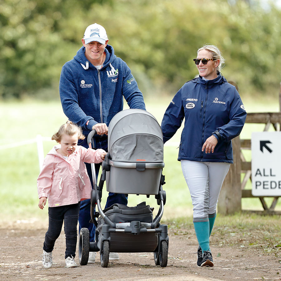 <h2>Mike, Zara, Mia and Lena Tindall, 2019</h2>