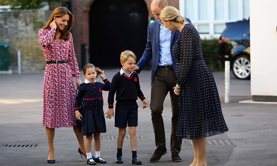 On Sept. 5, Charlotte hit a major milestone when she had her first day of school! She looked adorable as she arrived with her mom and dad and her big brother.