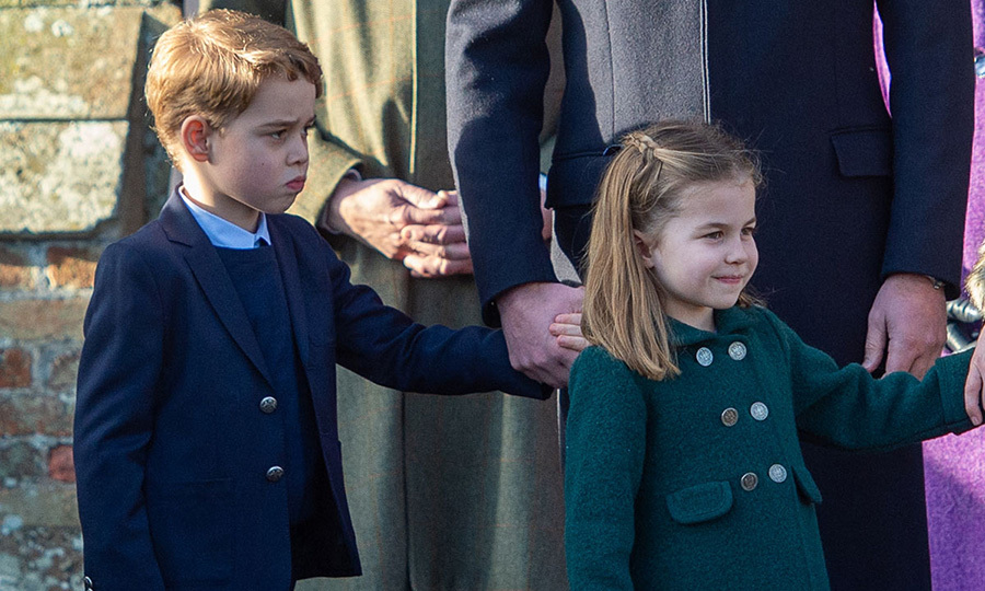 On Christmas Day, George and Charlotte made their debuts at the church service at Sandringham!