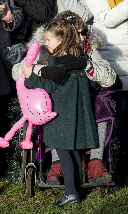 Charlotte stole the show when she hugged well-wishers during the walkabout!